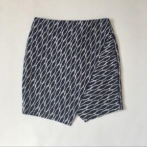 Loft asymmetric skirt straight size M